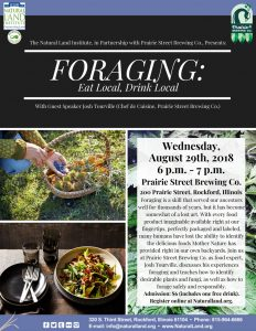 Summer Lecture Series - Foraging: Eat Local, Drink Local @ Prairie Street Brewhouse | Rockford | Illinois | United States